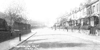 View up Warwards Lane 1929