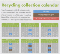 Waste collection calendar 2016